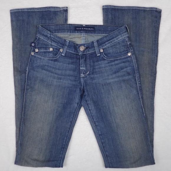 Rock & Republic Denim - Rock and Republic lowrise flared Jeans, Size 23
